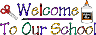 welcome to our school logo